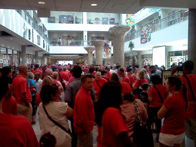 teacher rally
