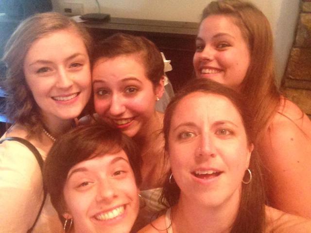 Blog wedding selfie